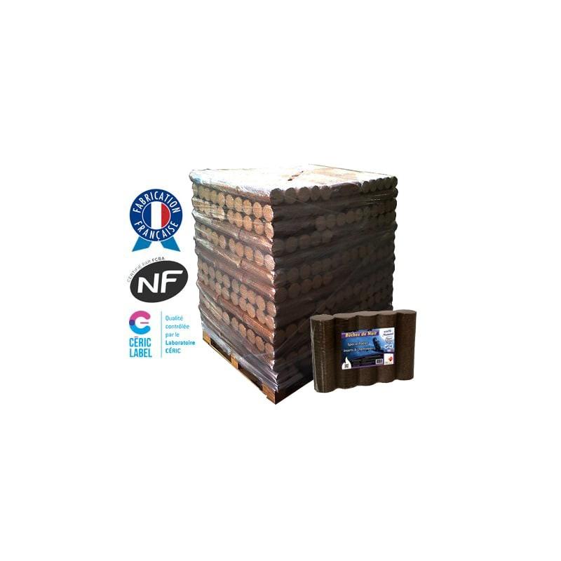 Bûches de nuit densifiées Obiflam - Palette de 104 paquets de 5 bûches