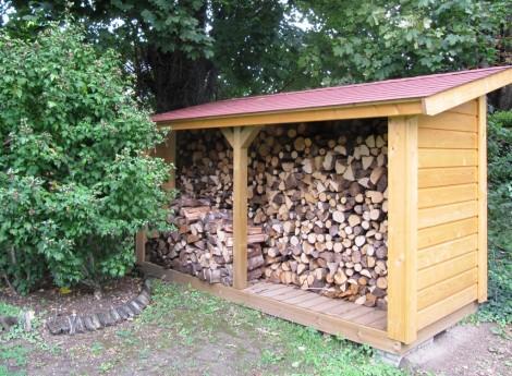 comment construire un abri bois de chauffage, construction abri de jardin buche de bois - Gruchy