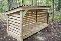 Construire abri bois de chauffage, comment construire un abri bois de chauffage pour le jardin - Gruchy